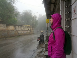 Photo: Rainy day in Udaipur and the palace is closed for a wedding.  Good day to hide inside and post photos.