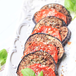 Light Eggplant and Tomato Parm