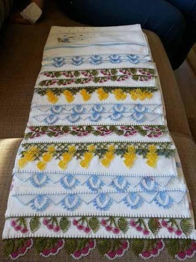 DIY Crochet Lace Towel