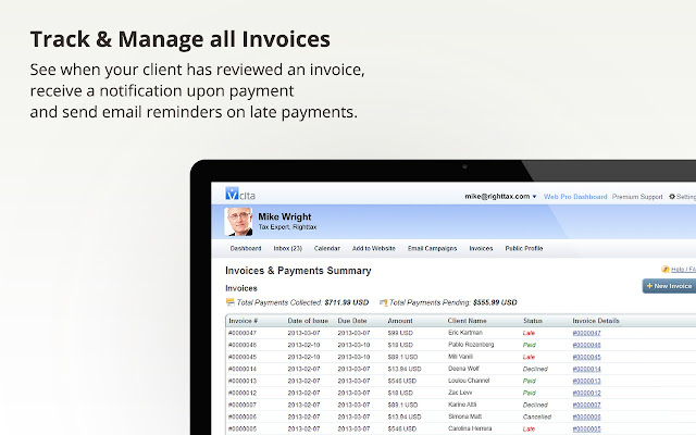 invoicing billing online payments by vcita chrome web store
