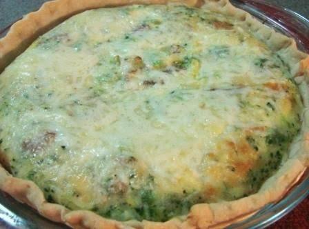 Quiche - Broccoli Bacon Cheese Pie Recipe