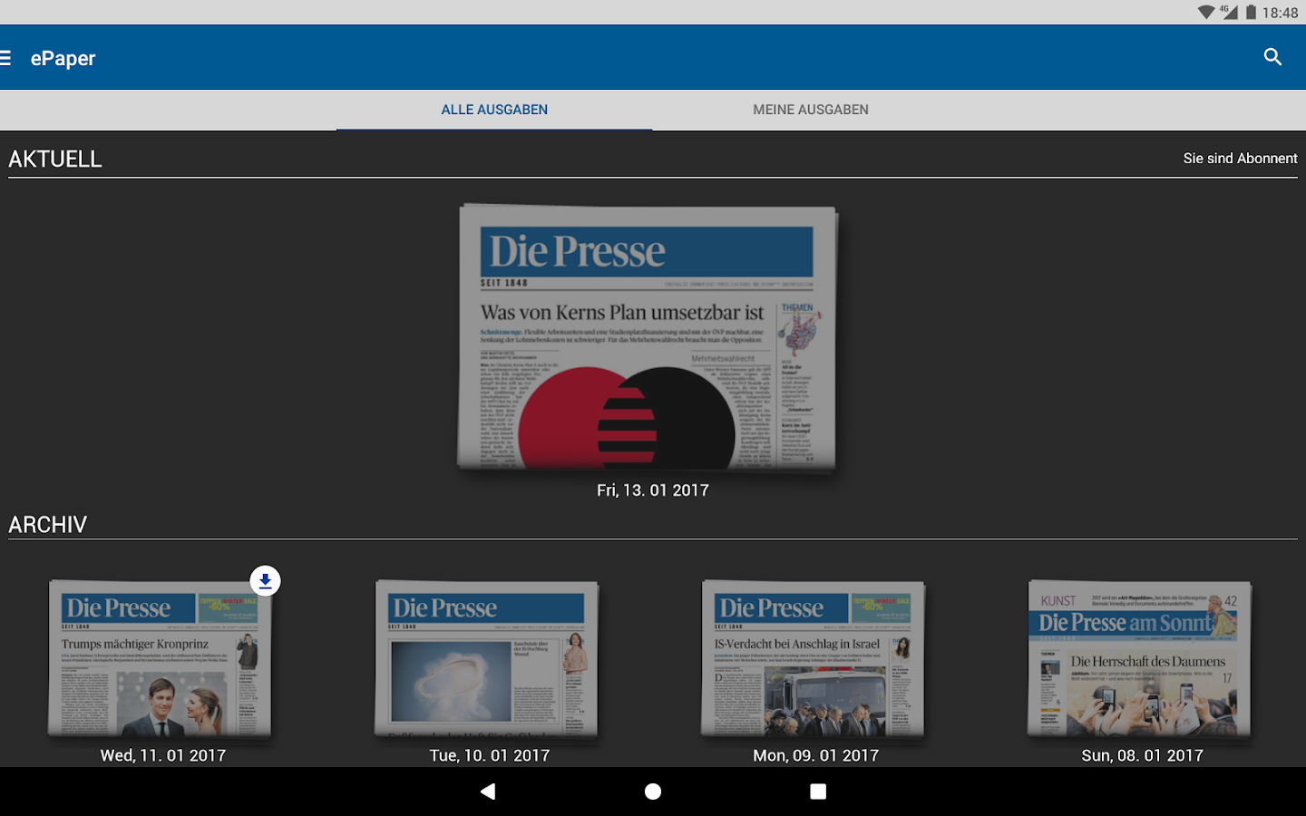 Die Presse- screenshot