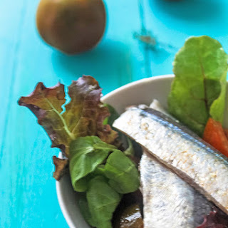 Marinated Sardines and Kumato Salad.