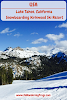 USA. California Lake Tahoe. Snowboarding Kirkwood Ski Resort Banner
