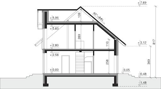 Dom przy Modrzewiowej 15 - Przekrój