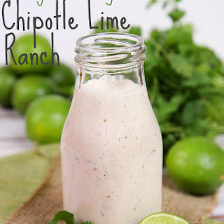 Healthy Chipotle Lime Ranch Dressing.