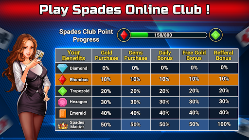 Spades Free - Multiplayer Online Card Game painmod.com screenshots 8