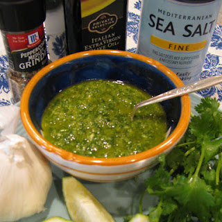 Roasted Jalapeno Cilantro Pesto.