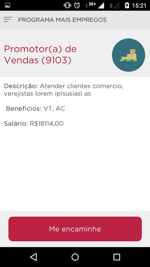 Programa Mais Empregos- screenshot