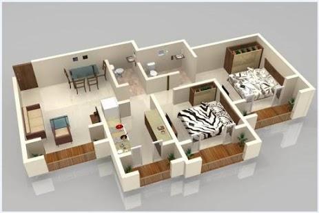 Reka Bentuk Rumah Lakaran Kecil Tangkapan Skrin