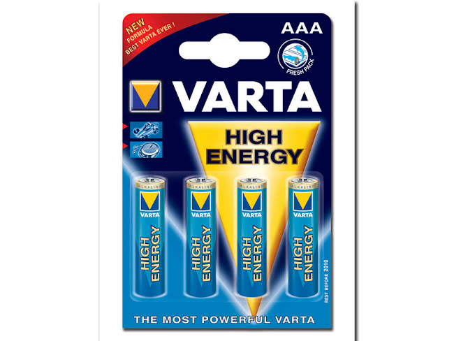Varta High Energy Alkaliska Batterier AAA 4st