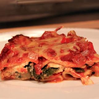 Hearty, Healthy Vegetarian Lasagna.