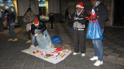 Photo: Business as usual on the streets, New Year's Eve