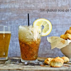 Coffee Slushie with Savory Oregano Cookies