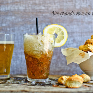 Coffee Slushie with Savory Oregano Cookies.