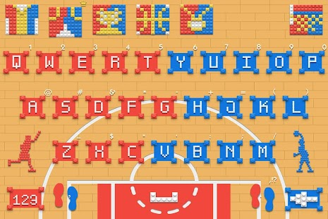 Building Blocks of Basketball Keyboard Theme - náhled