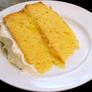 Lemon Layer Cake with Lemon Curd Filling Recipe