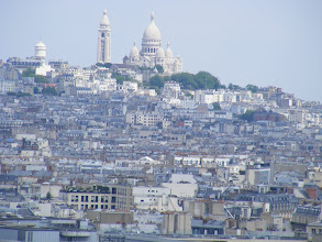 Photo: From the top, a closer view of Sacre Coeur, and our home neighborhood below and to the left in this view.