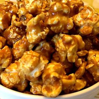 Homemade Caramel Popcorn.