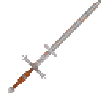 One of the gigantic straight greatswords. As the name suggests, the Zweihander is held with two hands, buts its wielder must still be inhumanly strong. It is this great weight that sends foes flying when hit solidly.