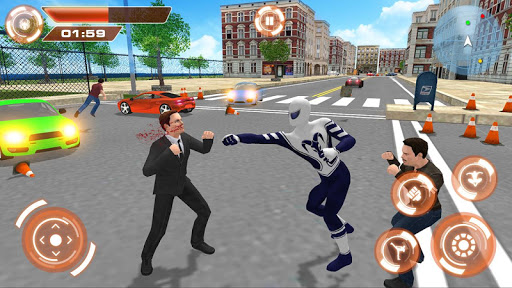 Flying Hero Iron Spider VS Mafia Fighter Adventure 2.3 screenshots 2