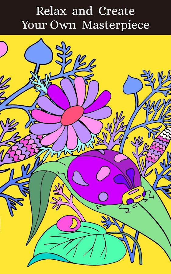 coloring pages magic garden screenshot