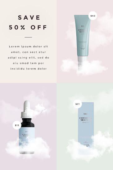 Half Off Cosmetics - Pinterest Pin template