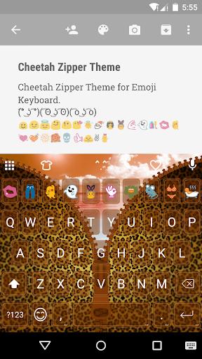 Cheetah Zipper Emoji Keyboard