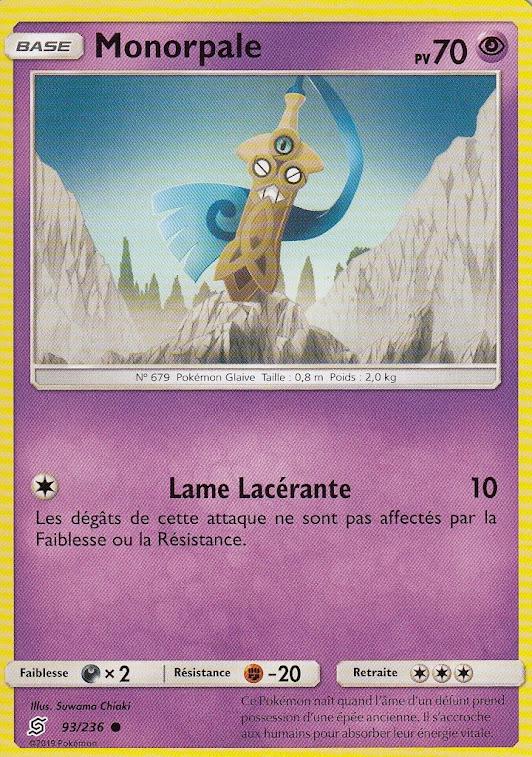 108//236 Carte Pokemon Neuve Française Chapignon SL11:Harmonie Des Esprits