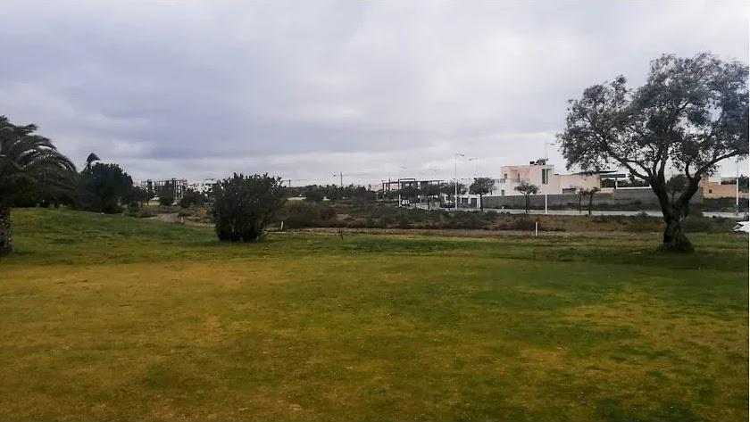 Vista de las parcelas unifamiliares desde el Campo de Golf de El Toyo
