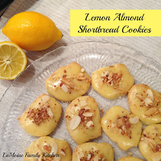 Lemon Almond Shortbread Cookies Recipe