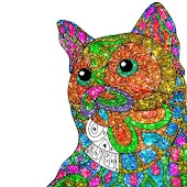 Cats Glitter Color by Number - Adult Coloring Book