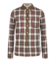 Photo: Arleaux Shirt>>  UK> http://bit.ly/NDID4p  US> http://bit.ly/T0OXCe  100% cotton yarn dye twill check long sleeve shirt. The Arleaux Shirt has classic work wear inspired details with contrast corduroy areas at the collar, back yoke, left chest pocket, placket and elbow patches for a unique panelled look. This style has been heavily laundered for a vintage finish and soft hand feel.