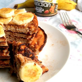 Three-Ingredient Almond Butter Banana Pancakes