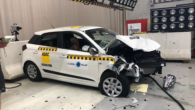 The Hyundai i20 sold in SA showed significantly more damage than the i20 sold in Europe