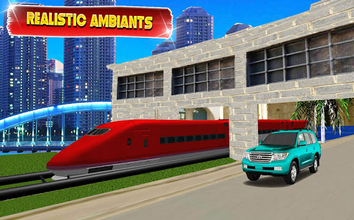 Train vs Prado Racing 3D  screenshots 1