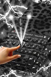 Black Cheetah For GO Keyboard - náhled