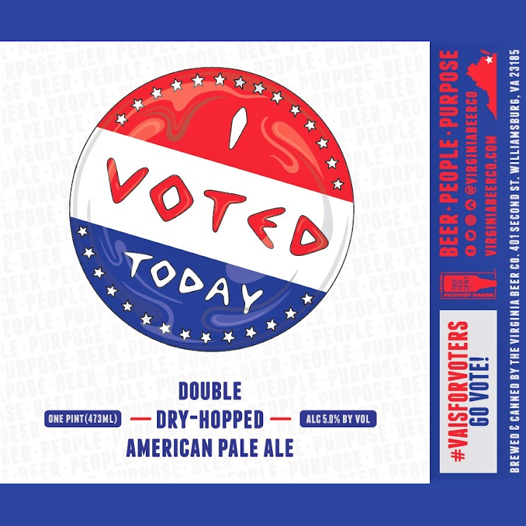 Logo of Virginia Beer Co. I VOTED TODAY