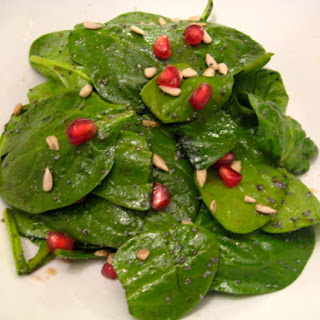 Pomegranate Spinach Salad.