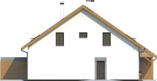 Azalia bez garażu bliźniak B-BL2 - Elewacja lewa