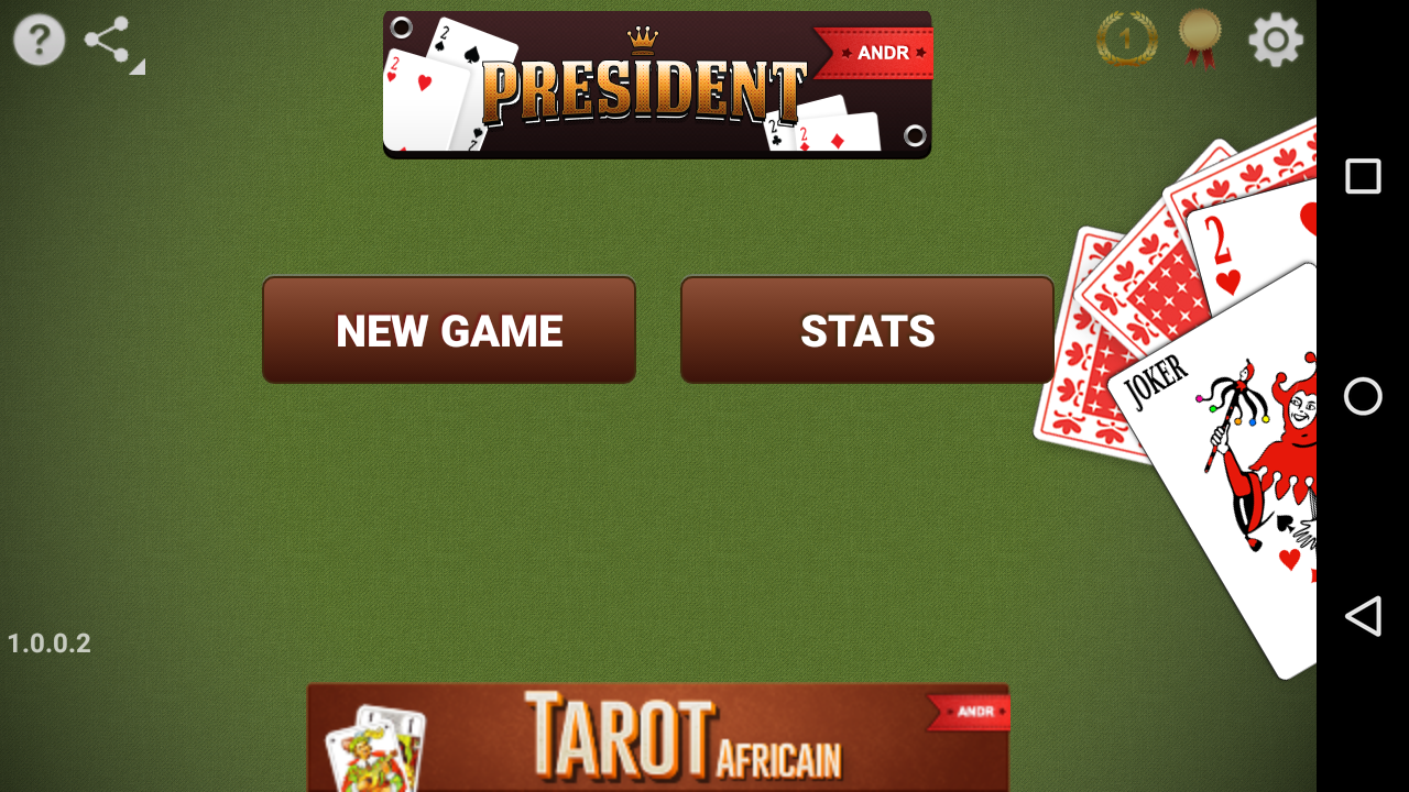 the president card game online