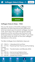 Screenshot of Solfeggio Sleep Meditation