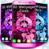 3D Wallpaper Clock
