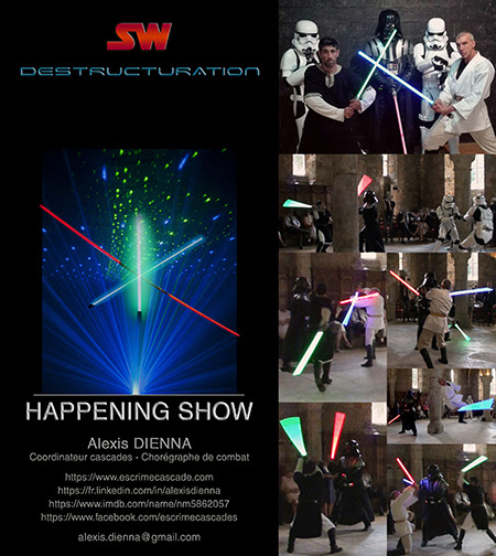 Show Star Wars theme : SW Destructuration. Création - Alexis DIENNA.
