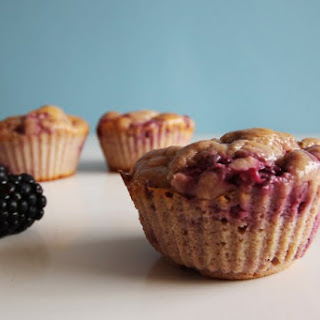 Healthy Oatmeal Blackberry Muffin