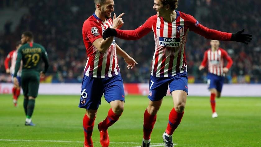 Koke y Griezmann fueron claves en el Atlético.