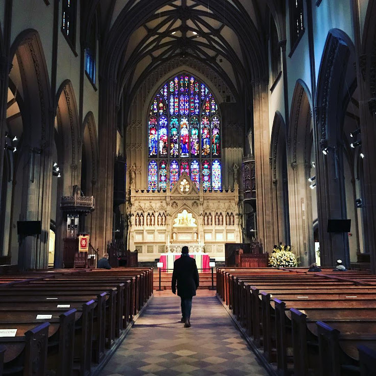 Inside Trinity Church. Photo: Richard Ferro.