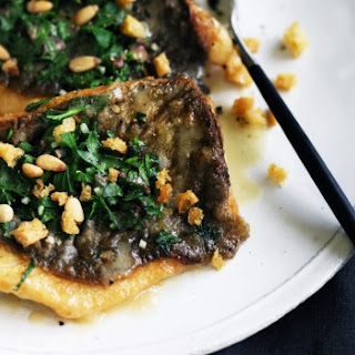 Pan-fried John Dory with parsley, garlic and pine nuts