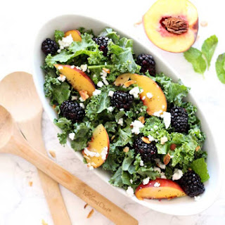 Blackberry and Peach Salad with Honey Poppy Seed Dressing