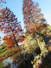 Photo: Bridge and orange trees at Eastwood Park in Dayton, Ohio.